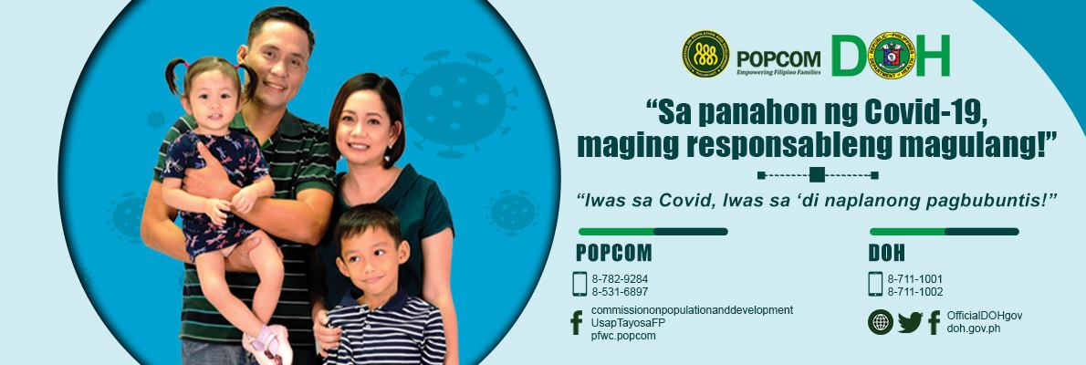 responsible parenthood during covid-19 pandemic banner